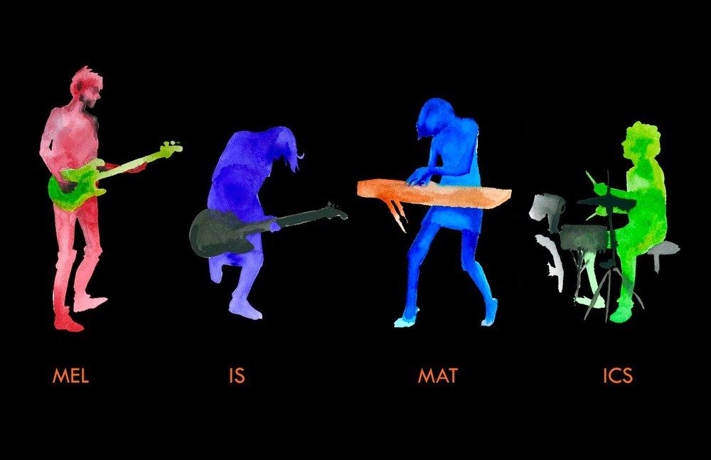 Melismatics - MCAD 2010, watercolor & digital