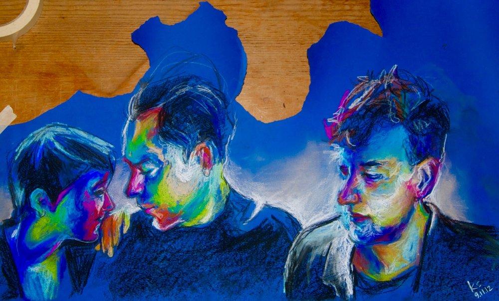 The xx 2012, chalk pastels