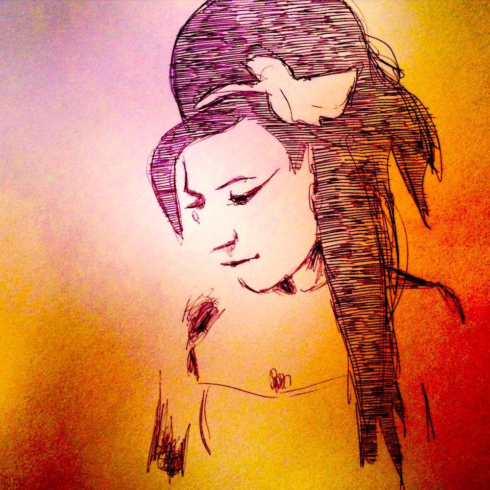Amy 2015, bic pen