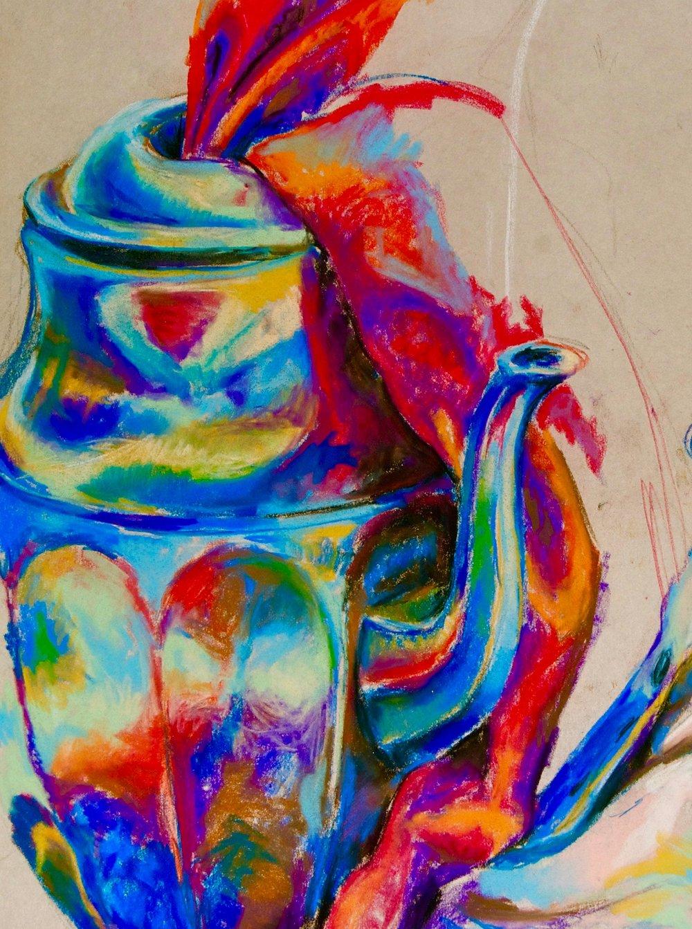 Still Life 2011, chalk pastels