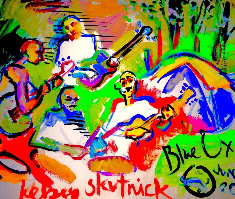 Blue Ox   June 12, 2015, gouache & digital editing