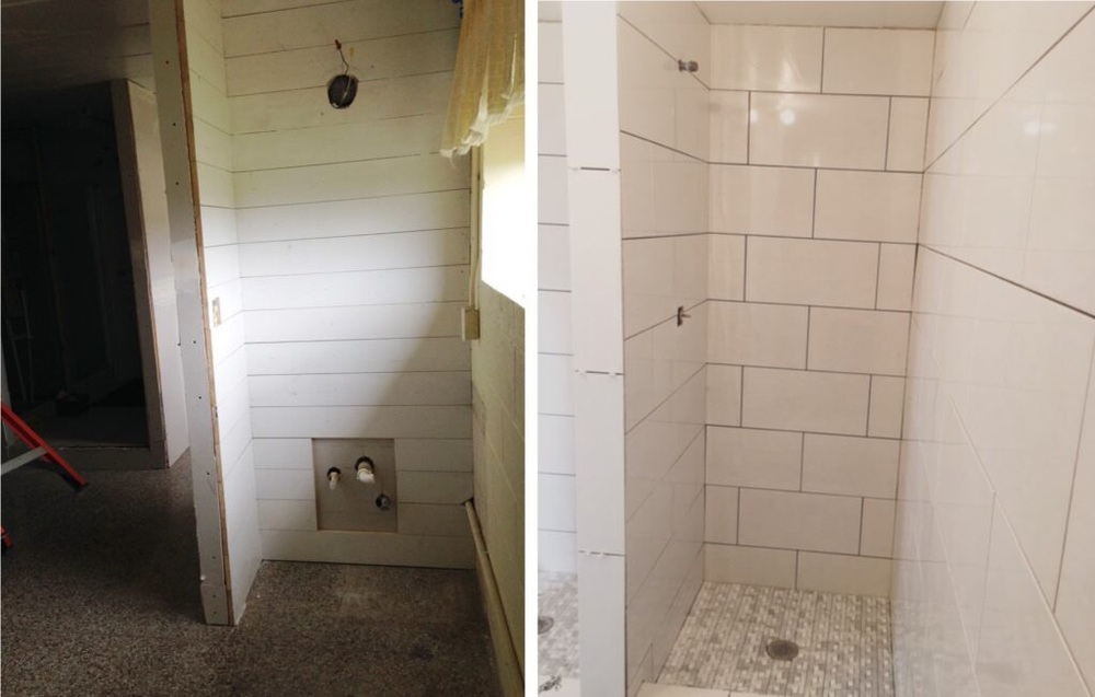 Bathroom Shower Before & After
