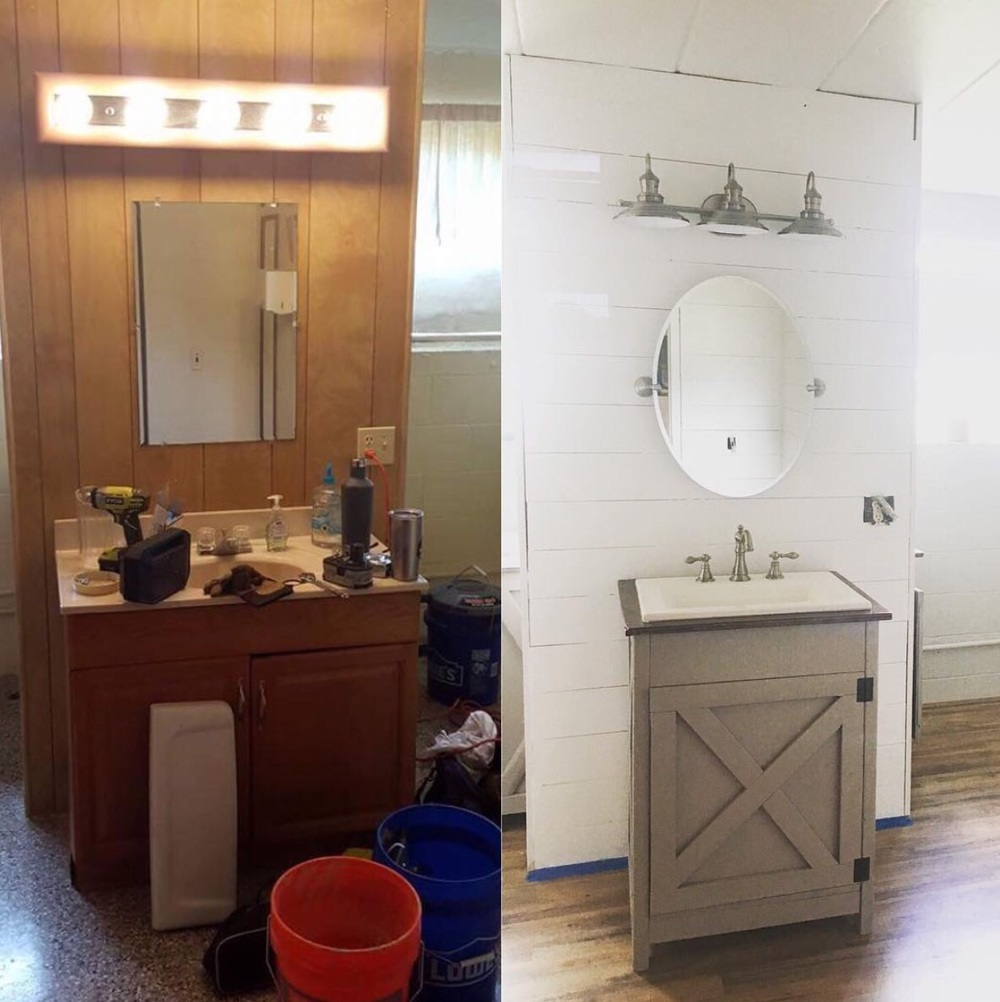 Bathroom Vanity Before & After
