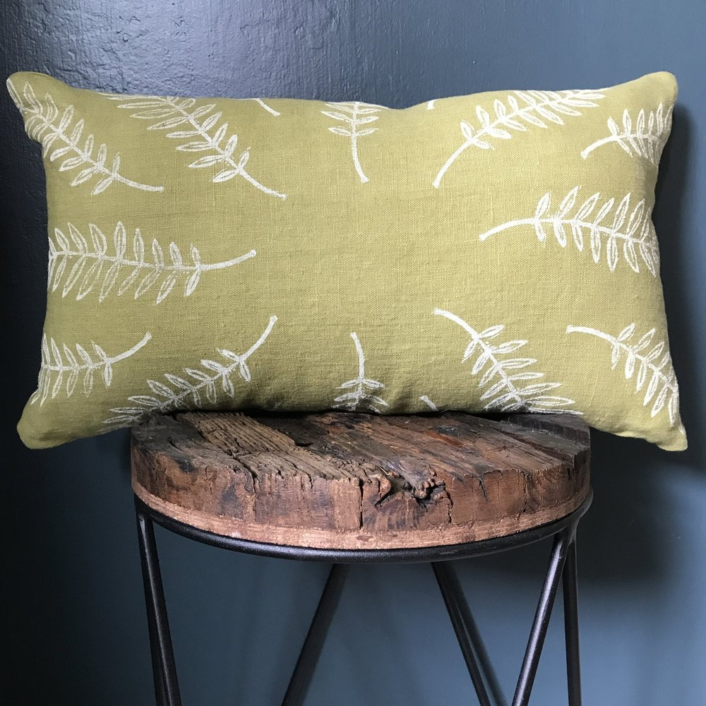 - EtsyHandprinted and sewn pillows.