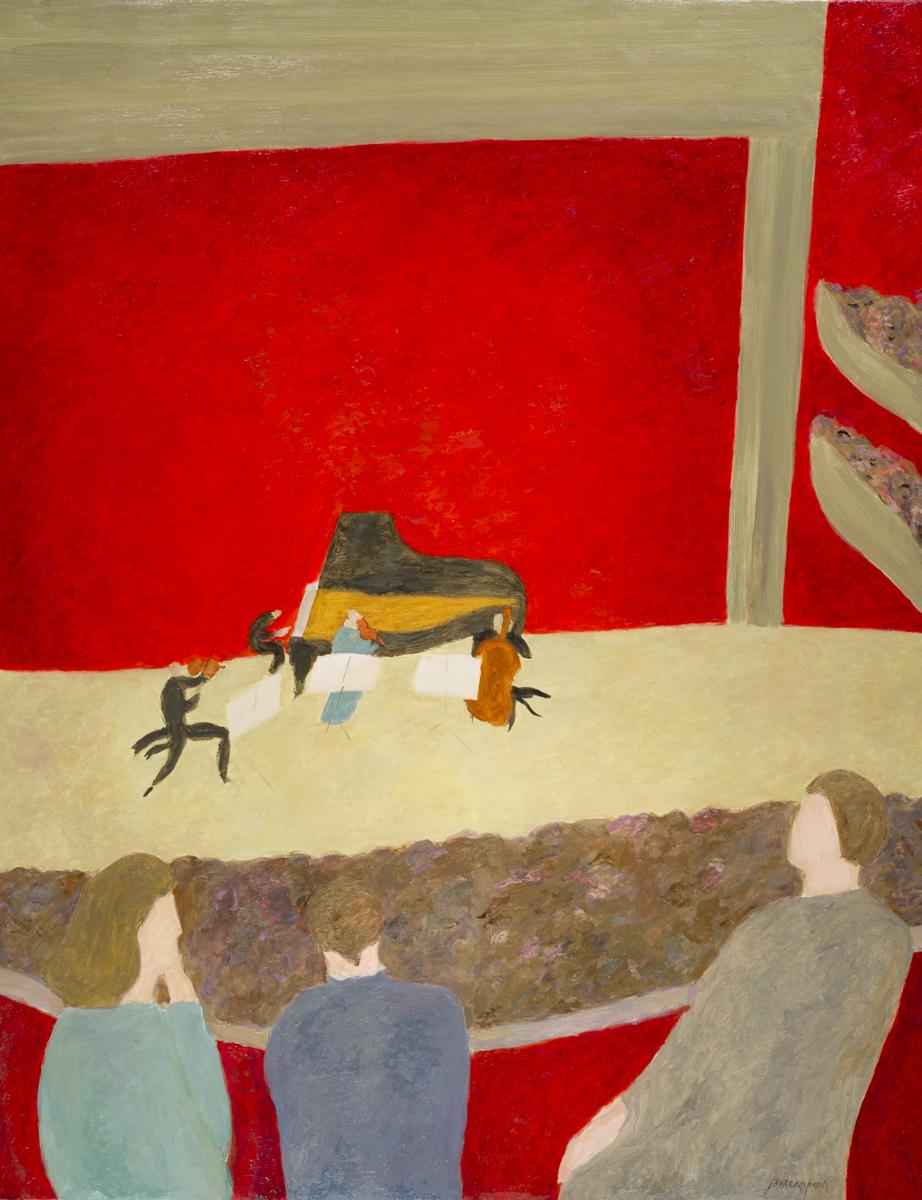 Le quatuor, oil on canvas, 57 x 44 in