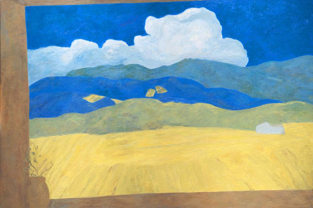 Nuage d'été, oil on canvas, 55 x 82 in