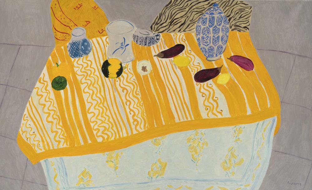 Le pot marocain, oil on canvas, 35 x 58 in