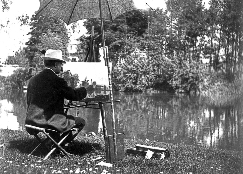 "Daubigny painting ""en plein air."""