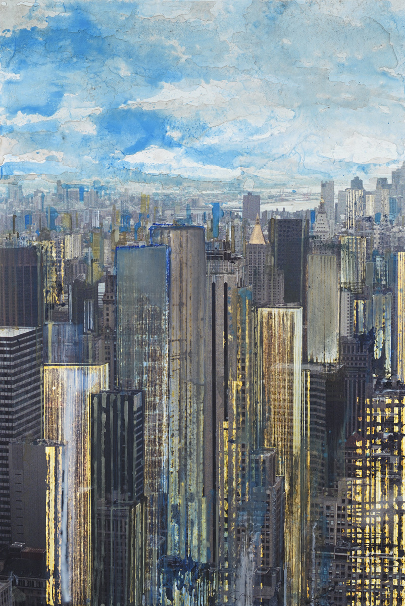 NY Cloudy, watercolor, 76 x 51 cm, 30 x 20 in, 2010