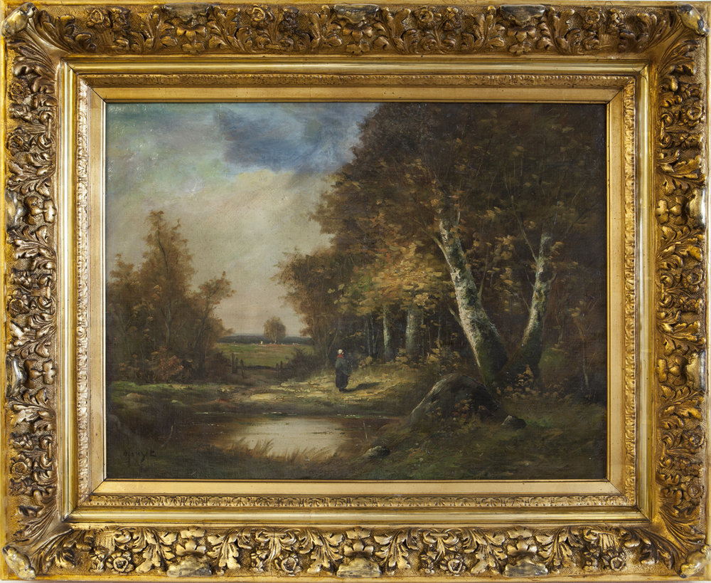 Morizot, Edma (1839-1921) Automne en forêt, Oil on canvas, 19.5 x 25.9 in