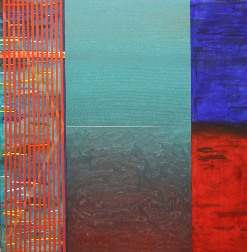 Temps, oil on canvas, 78 X 78 in (200 X 200 cm), 2016