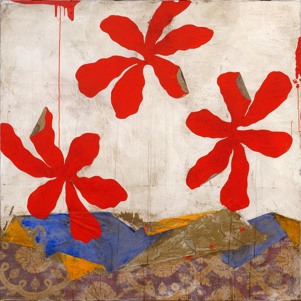 Jardin Japonais, mixed media on canvas, 59 x 59 in (150 x 150 cm) 2016