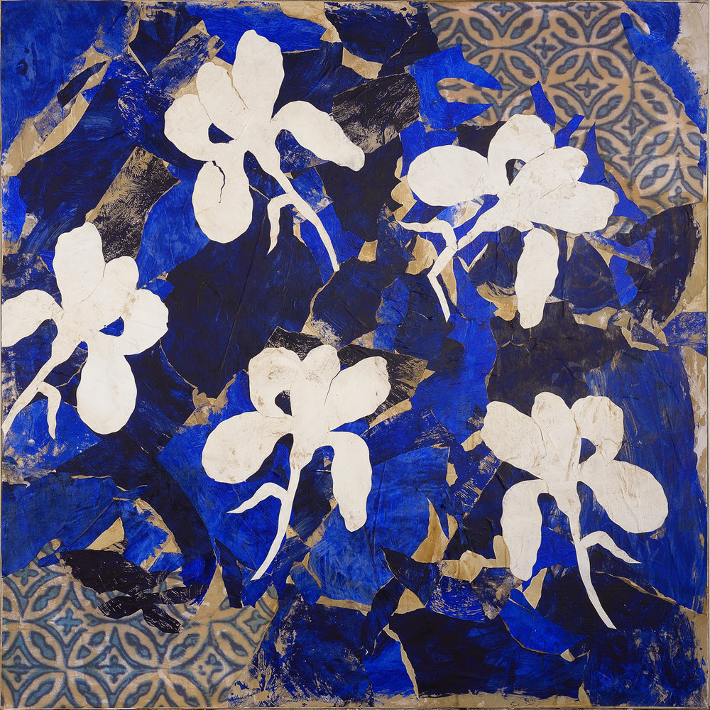 Le Jardin extraordinaire III, mixed media on canvas, 59 x 59 in (150 x 150 cm) 2016
