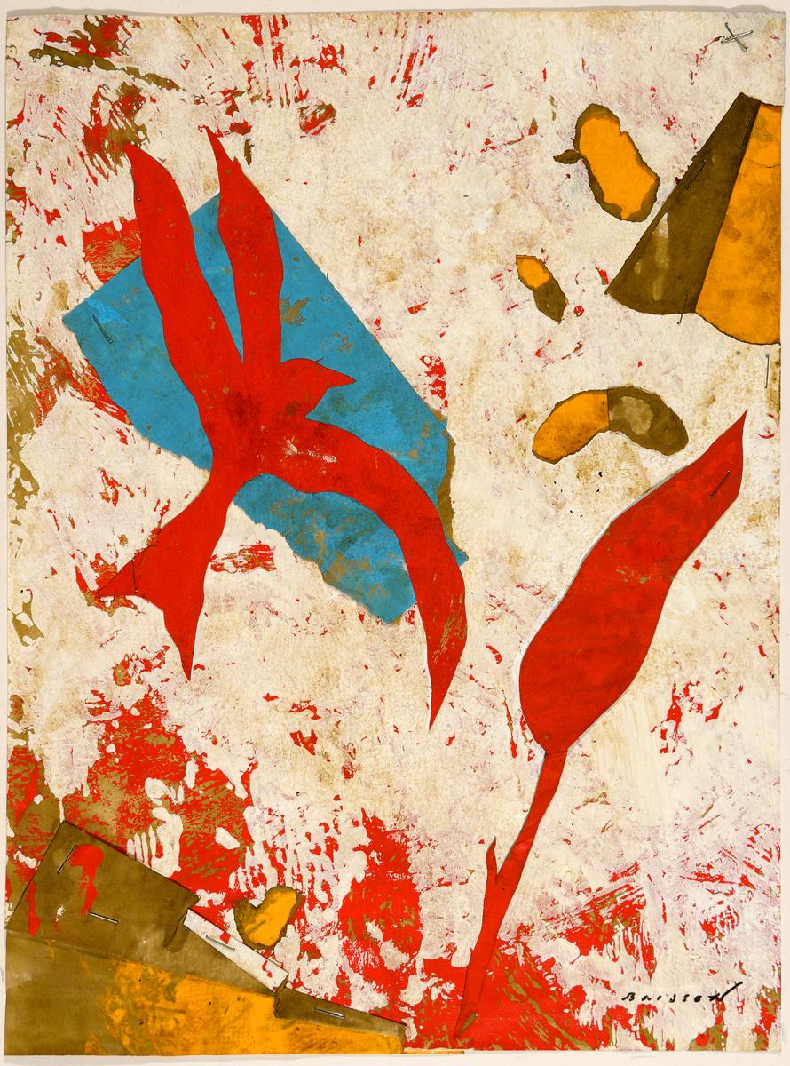 Bucolique XXVII, mixed media on paper, 16 x 12 in (40 x 30 cm) 2016
