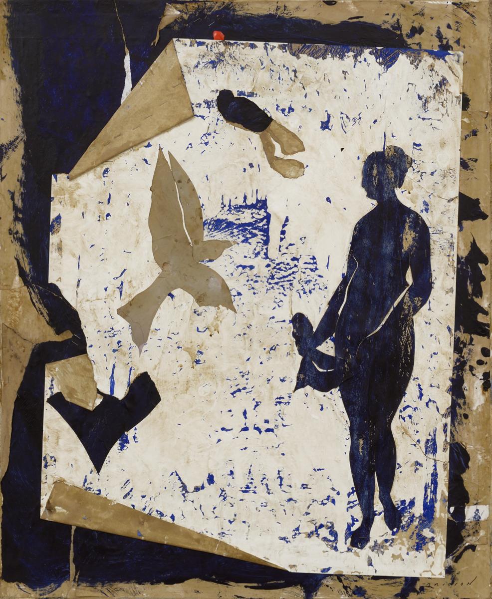 Belle et bleue II, mixed media on canvas, 28 x 23 in (73 x 60 cm) 2016