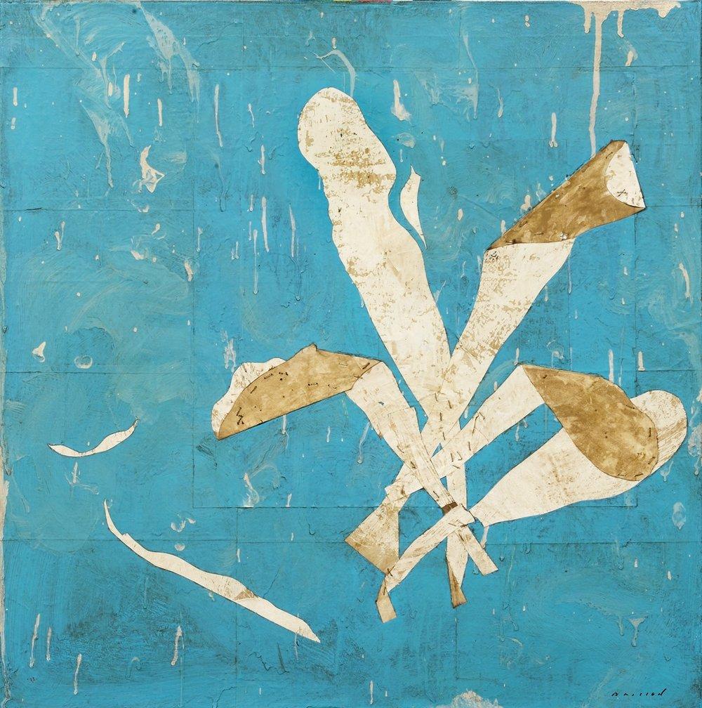Ulve III, mixed media on canvas, 31 x 31 in (80 x 80 cm) 2016
