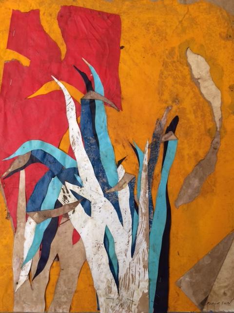 Belle journée 1, mixed media on paper, 19.5 x 16 in (50 x 40 cm), 2016