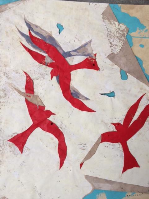Belle journée 4, mixed media on paper, 19.5 x 16 in (50 x 40 cm), 2016
