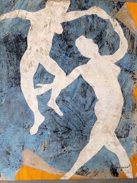 Belle journée 10, mixed media on paper, 19.5 x 16 in (50 x 40 cm), 2016