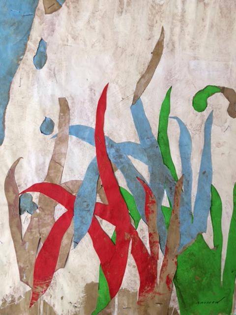 Belle journée 6, mixed media on paper, 19.5 x 16 in (50 x 40 cm), 2016