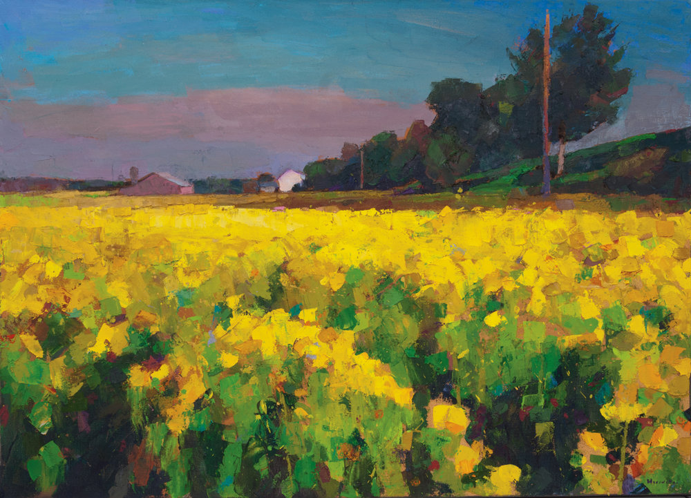 Mustard Fields, Isleton  (CA), Oil on Canvas, 36 x 60 in (81 x 134 cm), 2016