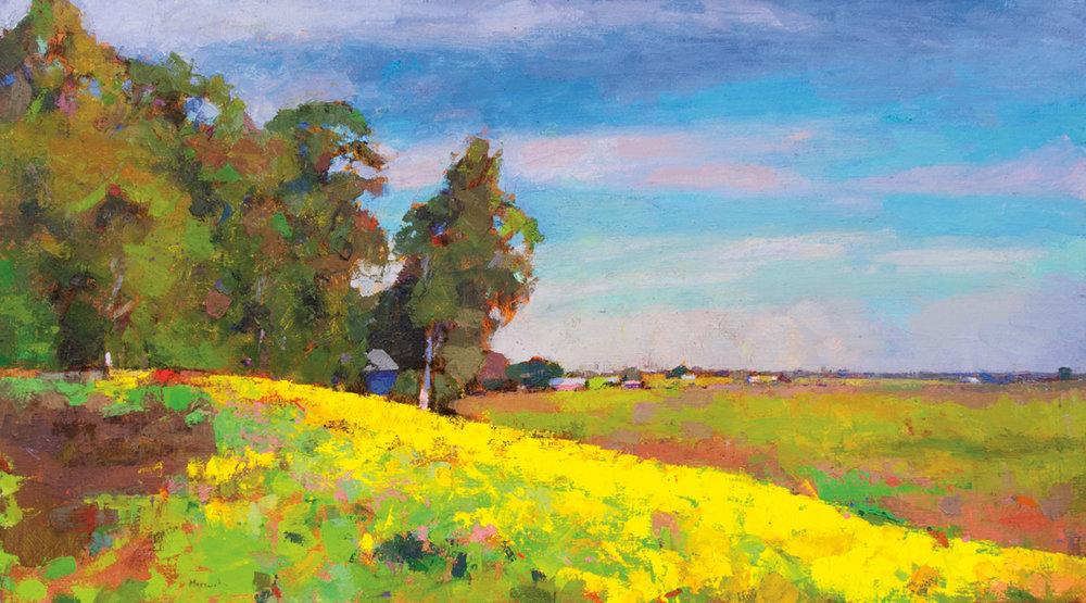 Springtime  (CA), Oil on Canvas, 36 x 64 in (81 x 143 cm), 2016