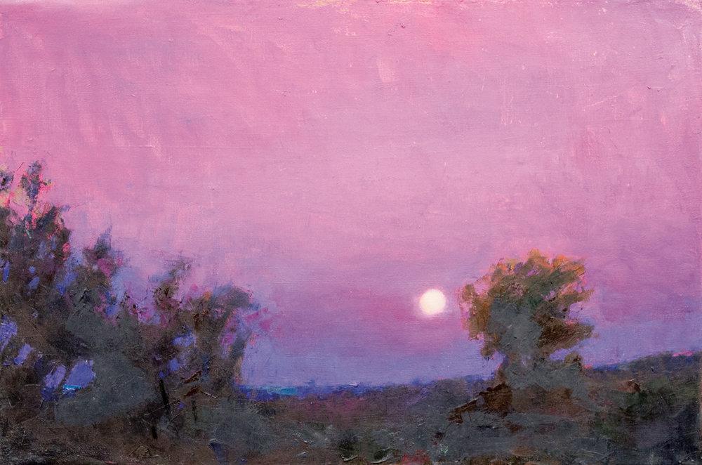 Full Moon, Oil on Canvas, 24 x 36 in (54 x 81 cm), 2016