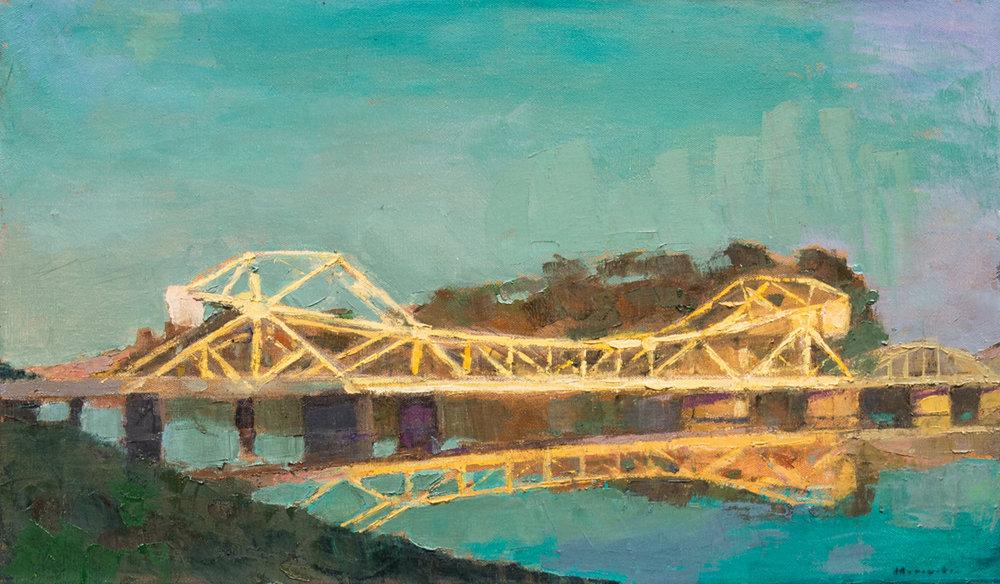 Isleton Drawbridge, Oil on Canvas, 20 x 34 in (45 x 76 cm), 2016