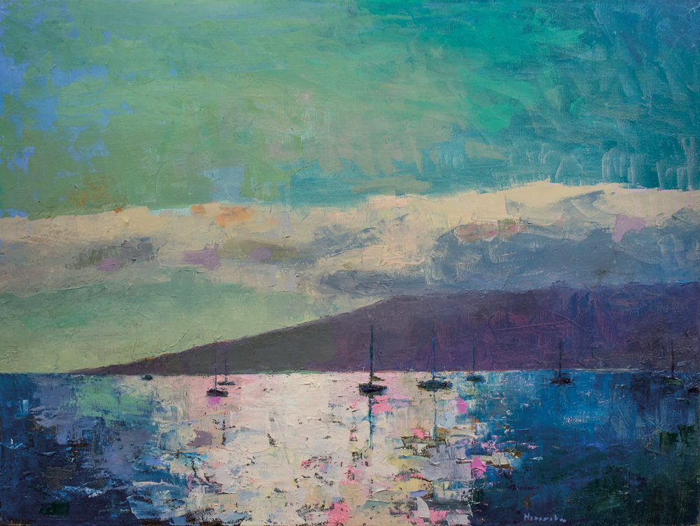 Lahaina, Oil on Canvas, 36 x 48 in (81 x 108 cm), 2016