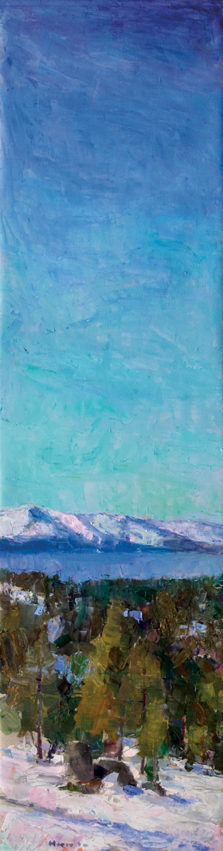 Lake Tahoe Vertical, Oil on Canvas, 52 x 14 in (116 x 31 cm), 2016