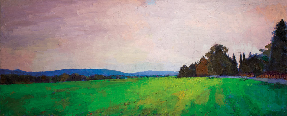 Napa Valley, Oil on Canvas,  31 x 77 in (69 x 172 cm), 2016