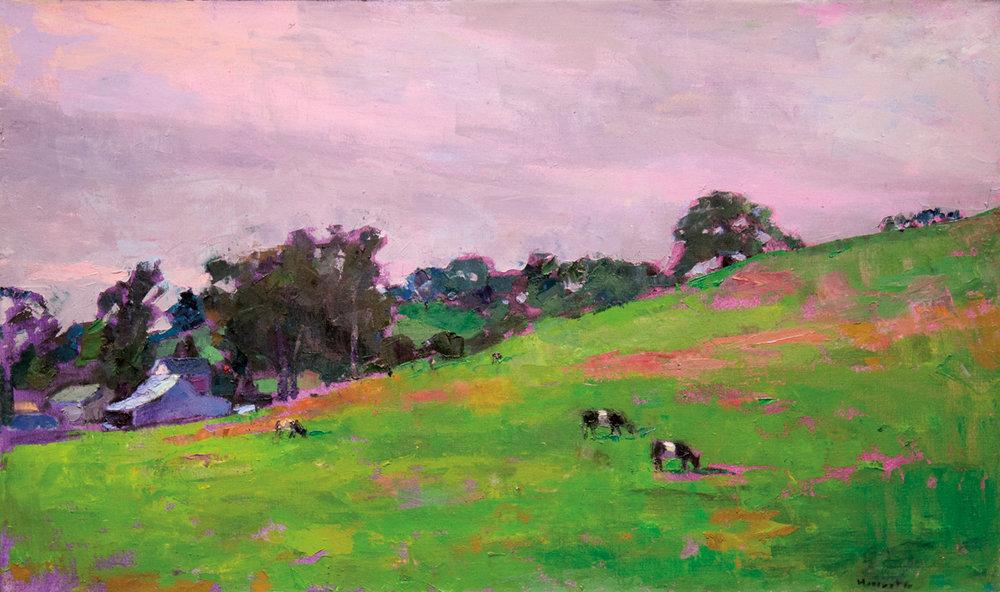 Stewart Ranch, Oil on Canvas, 24 x 40 in (54 x 90 cm), 2015