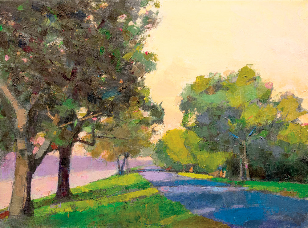 Sunset Sacramento Delta, Oil on Canvas, 29 x 39 in (65 x 87), 2016