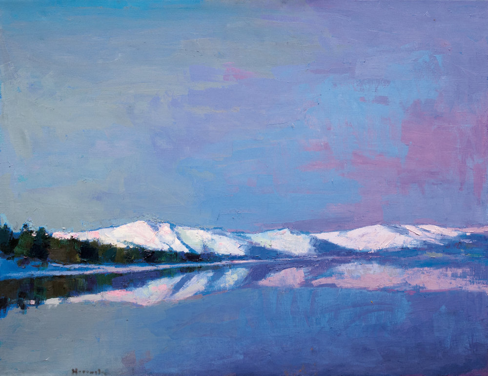 Tahoe Reflections, Oil on Canvas, 30 x 38 in (67 x 85 cm), 2016