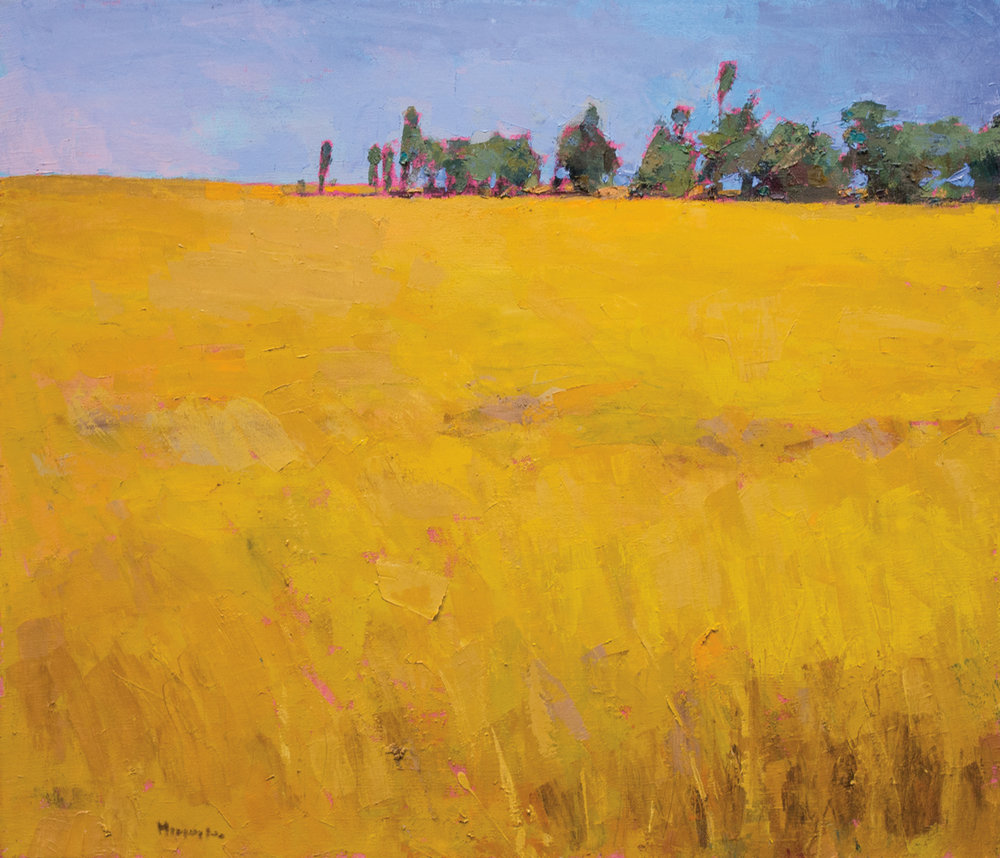 Tall Grasses 2016, Oil on Canvas, 32 x 37 in (72 x 83 cm), 2016