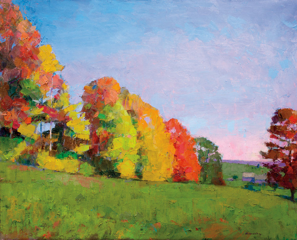 The Peak of Fall, Oil on Canvas, 42 x 52 in (94 x 116 cm), 2016