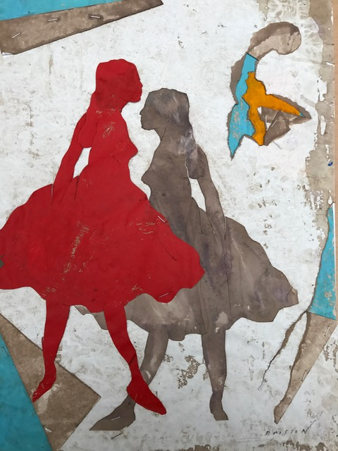 Les petites choses IX, mixed media on paper, 16 x 12 in (40 x 30 cm), 2017