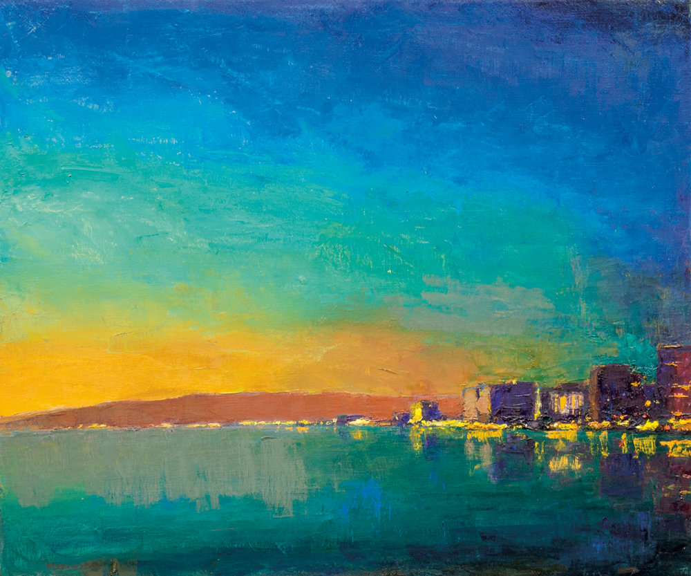 Waikiki Dusk, Oil on Canvas, 25 x 30 in (56 x 67 cm), 2016