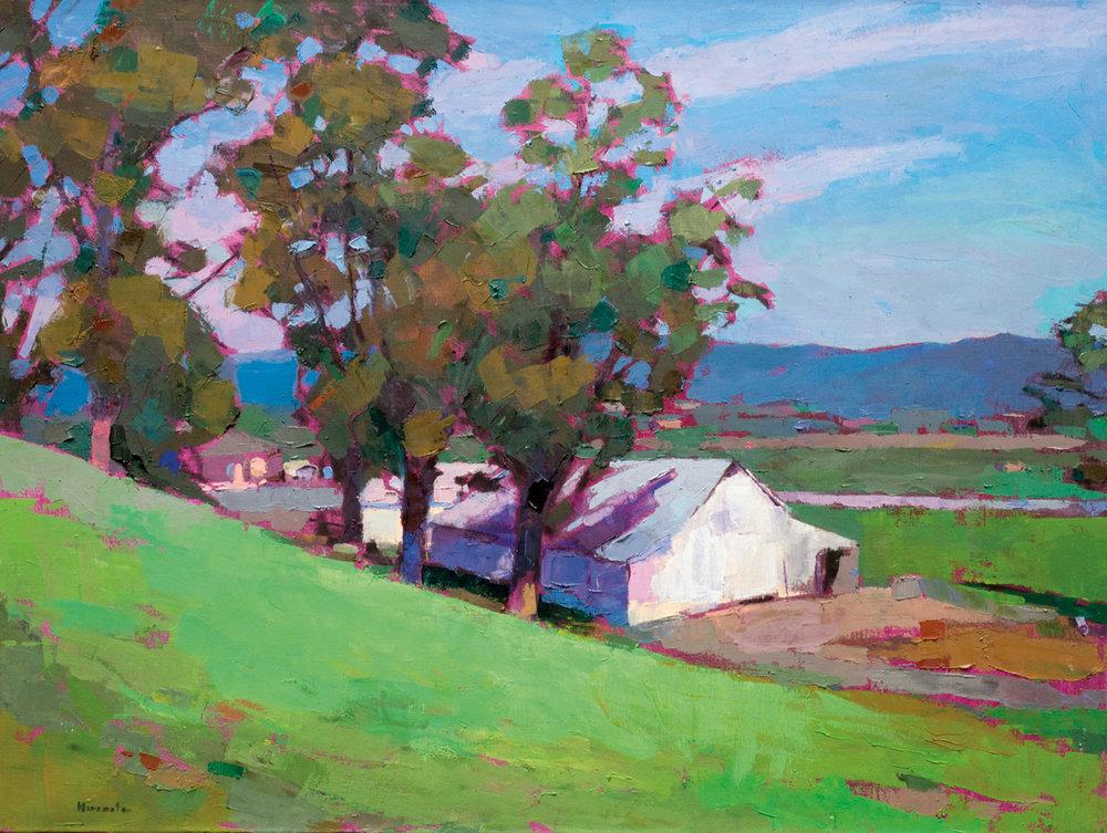 Stewart Barns, Oil on Canvas, 36 x 48 in (81 x 108 cm), 2016