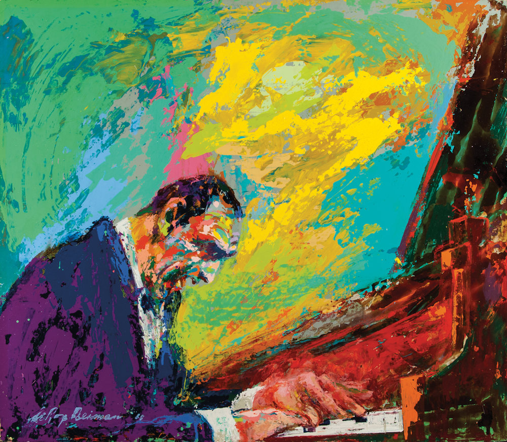 Vladimir Horowitz, Acrylic & enamel on board, 22 x 25.5 in,  1968