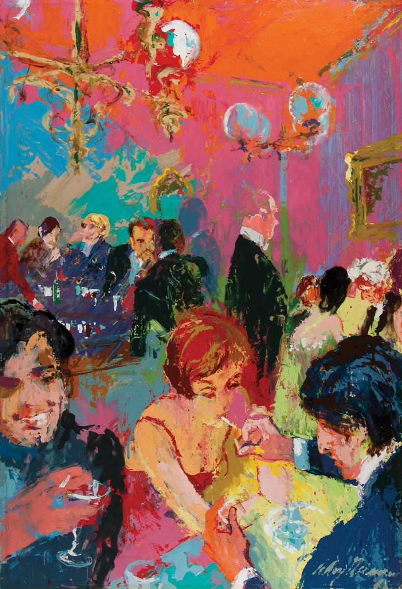 The Pickwick Club, Acrylic & enamel on board, 35 x 24 in, 1966