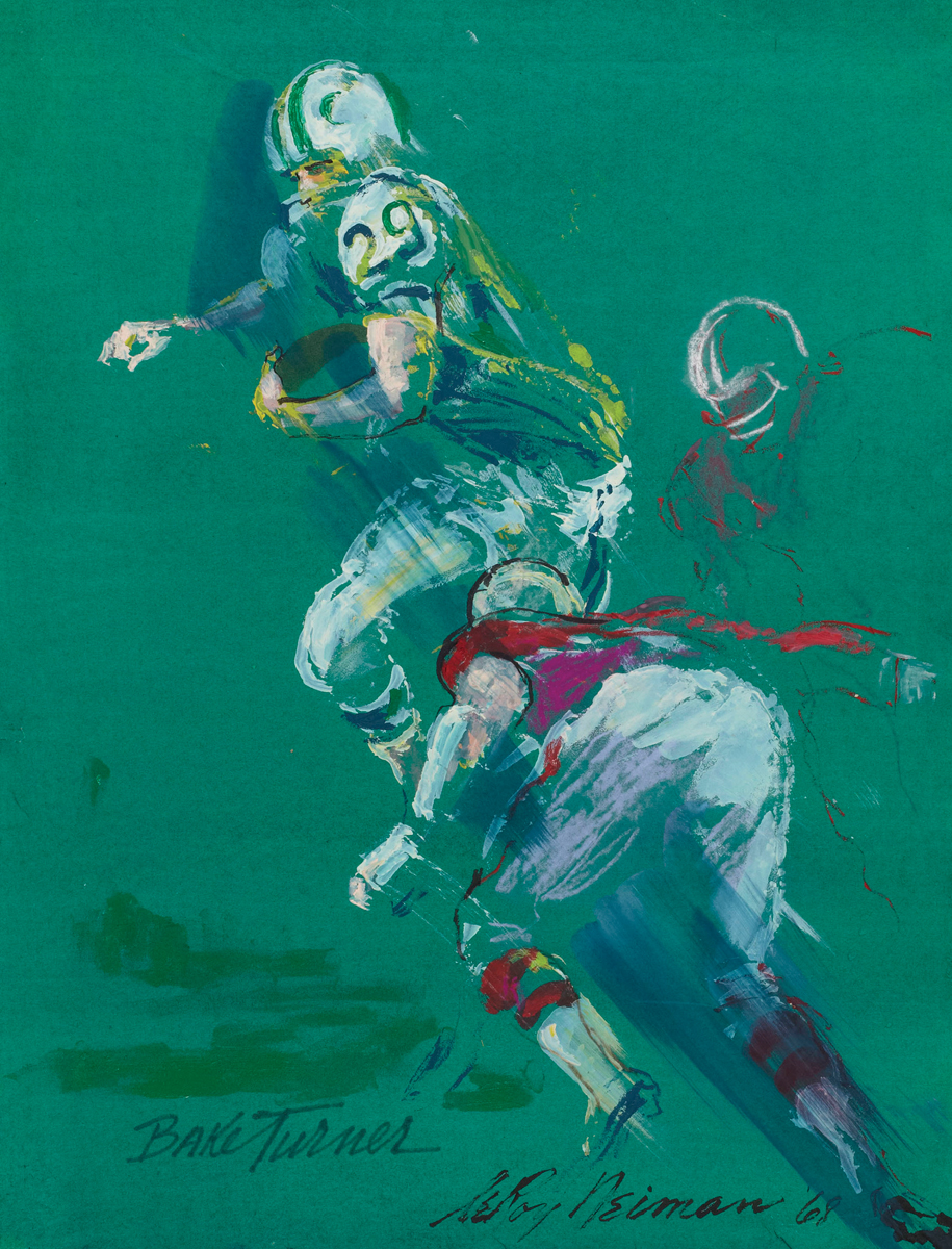 Bake Turner, Mixed Media on Paper, 22 X17 in.,1968