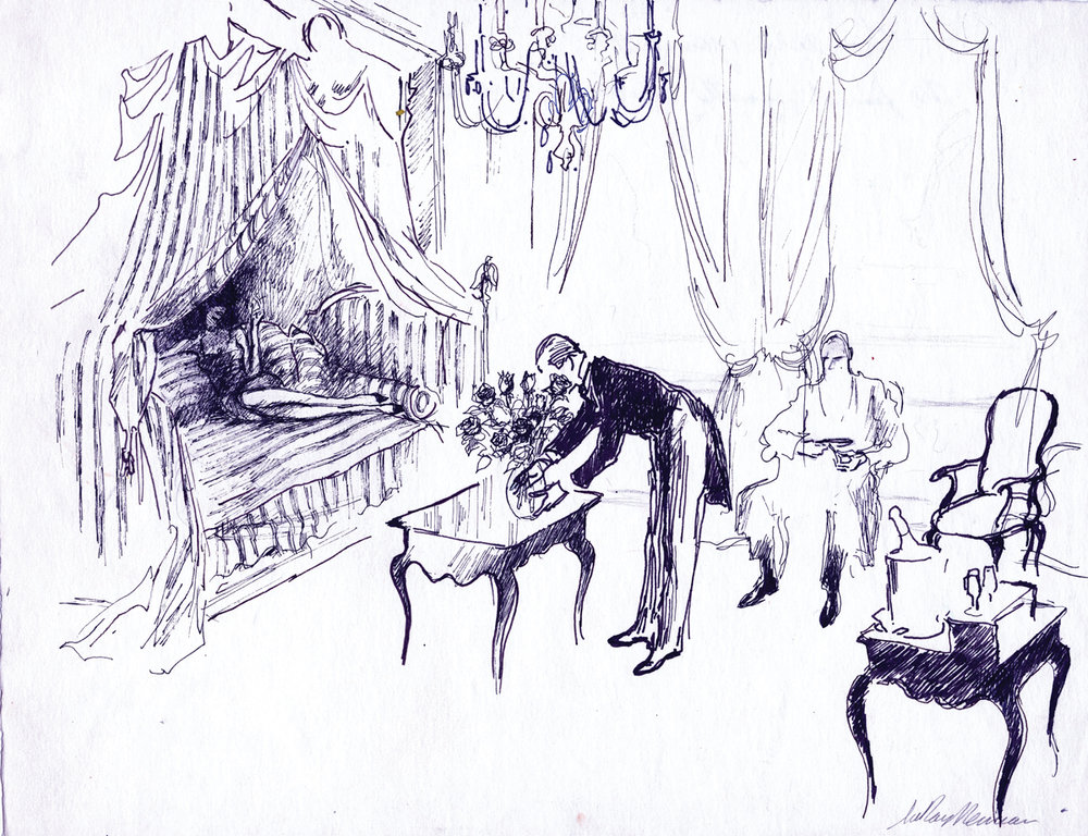 The Arrangement, Ink on Paper, 12 X 15.25 in