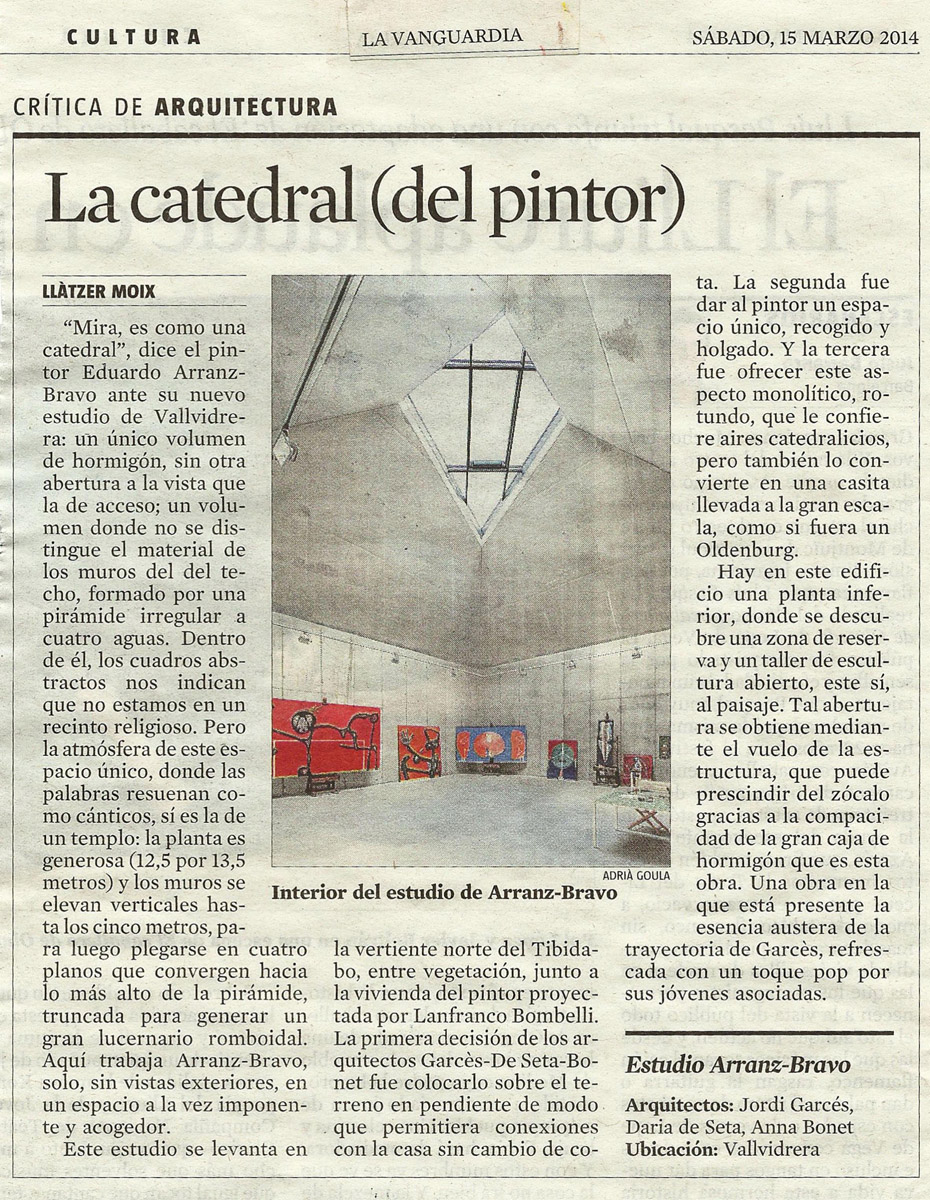 La Vanguardia - March, 2014
