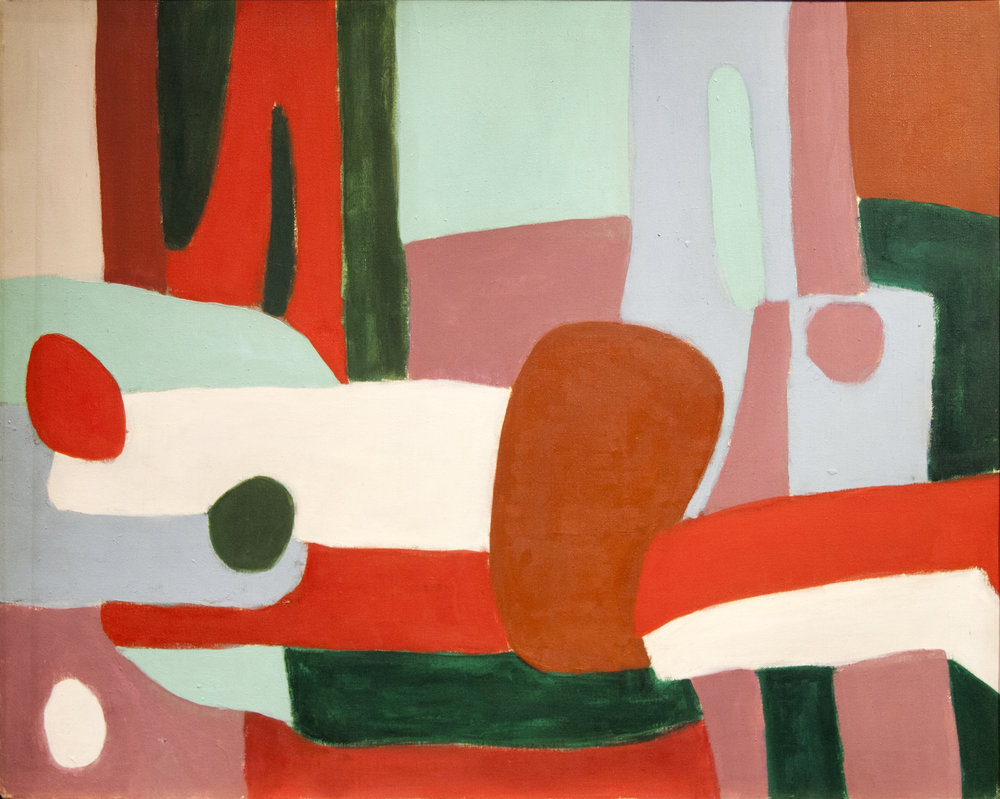 Green Pillow, Oil on canvas, 24 x 30 in, 1958
