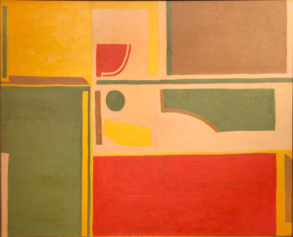 Repose, Oil on canvas, 34 x 42 in, 1956