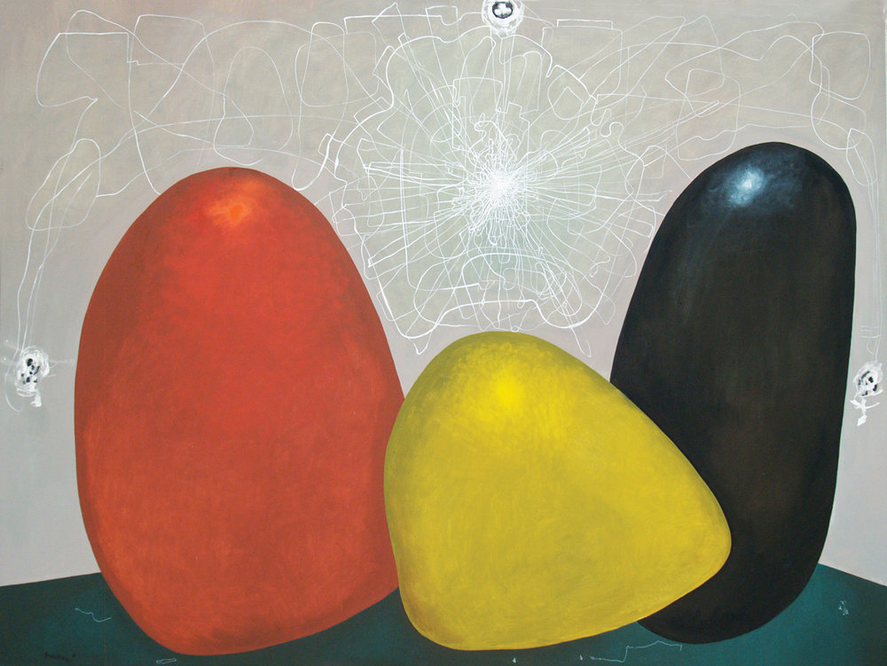 Magic rocks, oil on canvas, 76.5 x 102 in, 2016