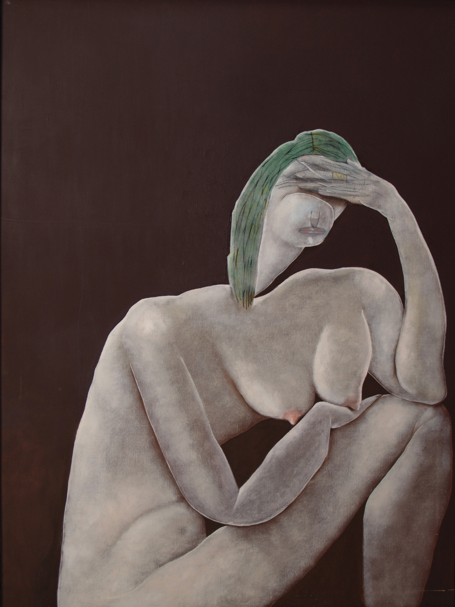 Nu que pensa, oil on canvas, 51 x 38 in, 1982