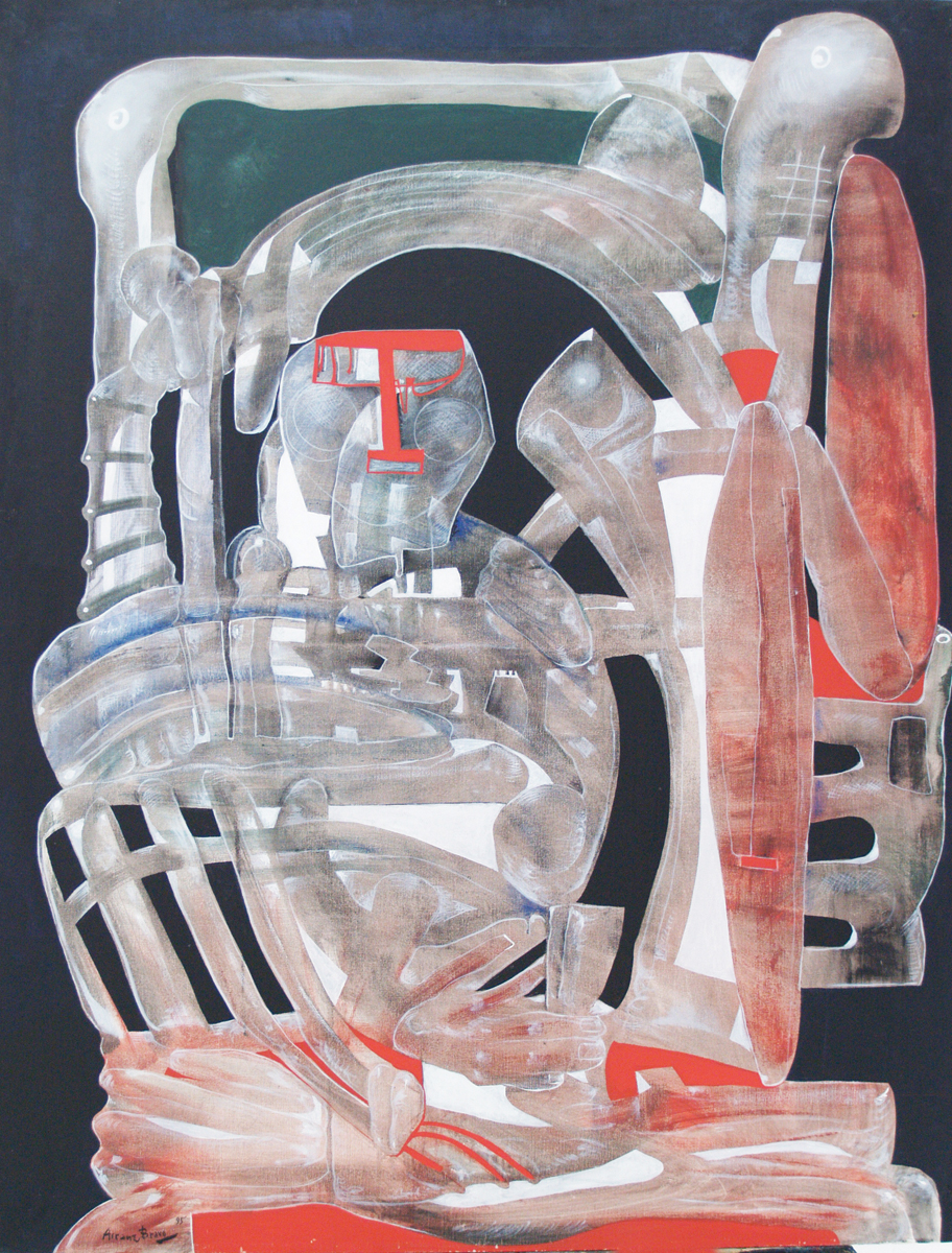 Gran latino, oil on canvas, 45 x 35 in, 1995