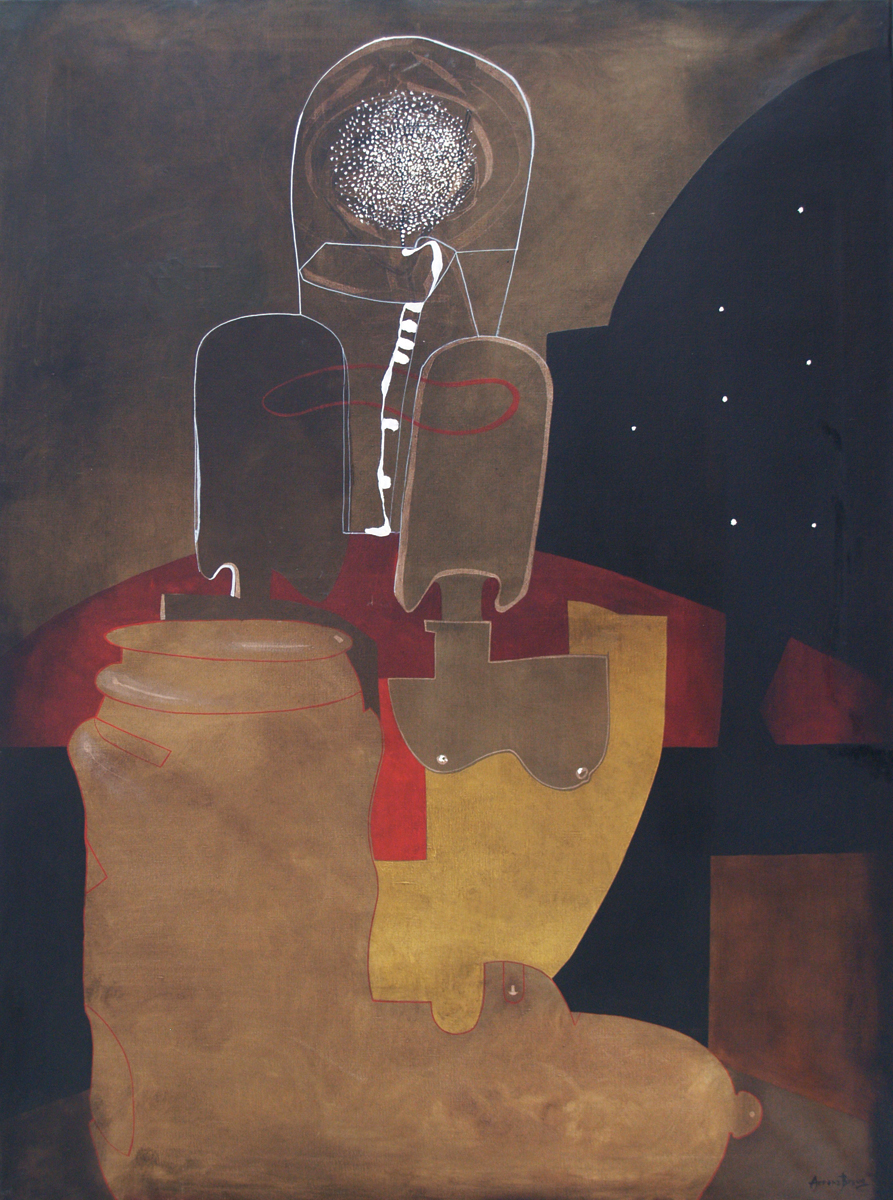 South love, oil on canvas, 51 x	38 in, 1994